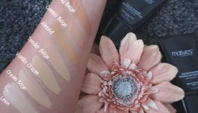 Motives Liquid Powder Mineral Foundation Swatches