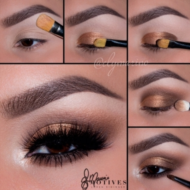 "Get the Look: ""Antique"" Copper Eye Shadow with Motives"