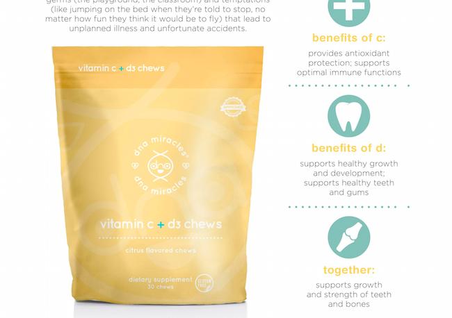DNA Miracles® Vitamin C + D3 Chews, amber ridinger, duane mclaughlin, chews