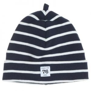 navy stripes newborn hat