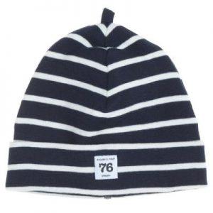 navy stripes newborn hat