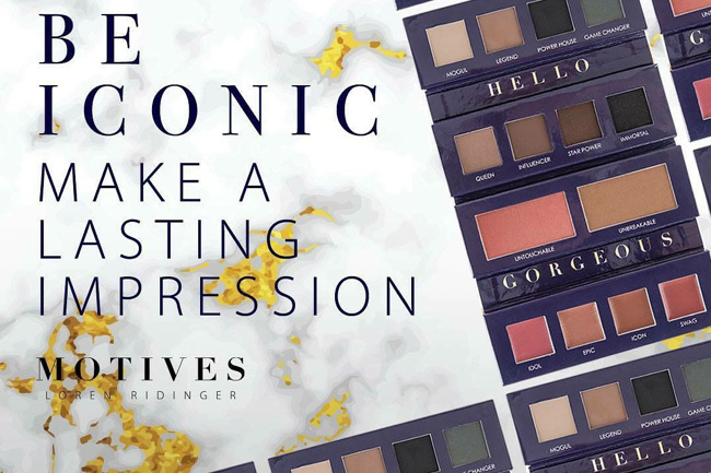 Make the Iconic Palette Your Own, iconic, iconic palette, motives, motives® cosmetics, motives, motives cosmetics, beauty advisors, loren, loren ridinger