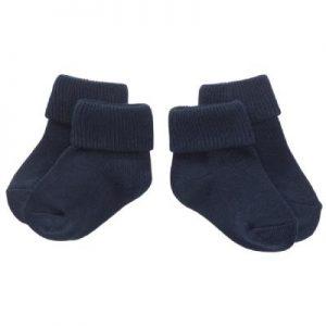 navy stripes newborn socks