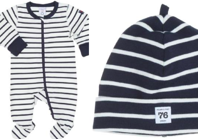 navy stripes newborn baby style