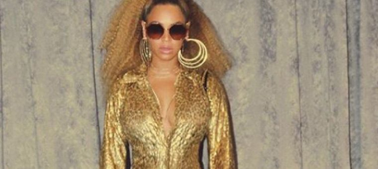 Beyoncé Glowed in an All-Gold Outfit, all-gold, gold, beyonce, jay-z,