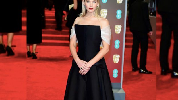 All the Black Dresses from the 2018 BAFTAs, jennifer lawrence, baftas, british, lupita nyong'o, lily james