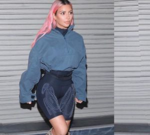 Every Outfit the Kardashians Wore in Japan, kim kardashian, japan, kim kardashian does japan, kardashian in japan, kourtney kardashian, khloe kardashian, pink hair