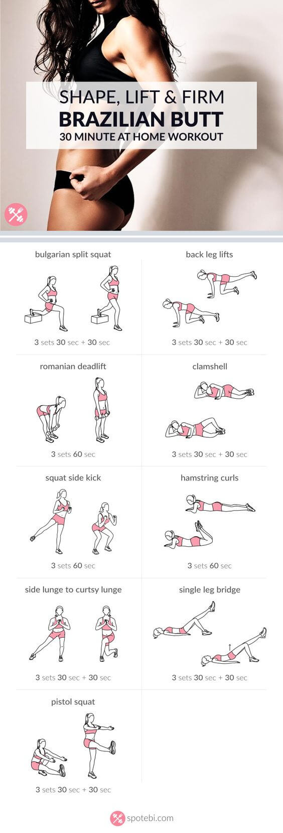 7 Booty Workouts to Lift & Shape, lift and shape, booty workout