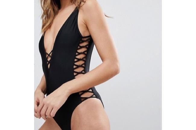 The Black Swimsuit is IN, black swimsuit, black bikini, kim kardashian, topshop, asos