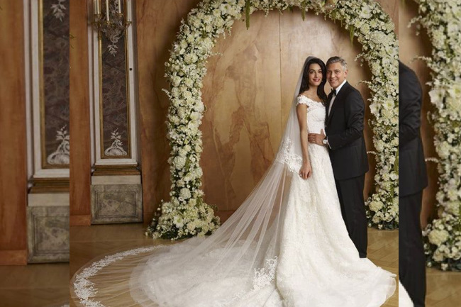 10 of the Most Iconic Wedding Dresses, amal clooney, meghan markle, royal wedding, May 19th, prince harry, wedding, wedding day