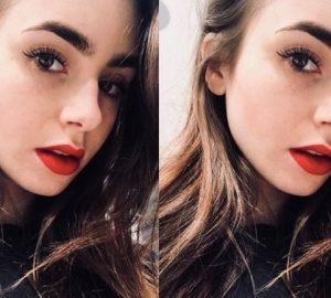 Get Lily Collin's Signature Makeup Look with Motives® Dupes, motives, motives cosmetics, lily collins, makeup, motives, loren ridinger