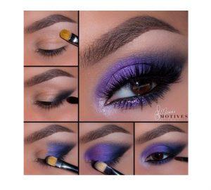 Get the Look with Motives®: Electric Blue & Purple, motives® cosmetics, loren loren ridinger, get the look