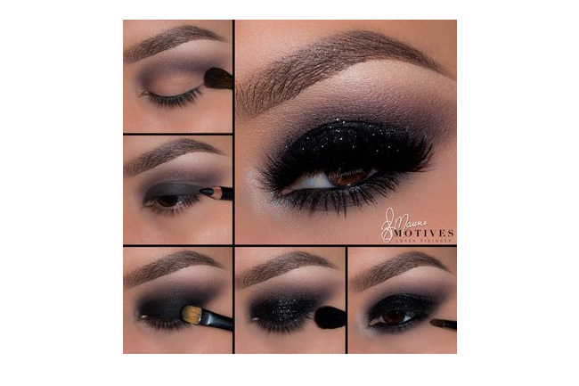 Get the Look with Motives®: Black Glitter Pictorial , motives, motives® cosmetics, loren, loren ridinger, ely marino,