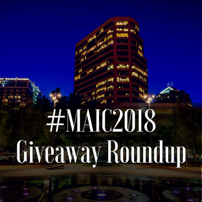 MAIC 2018 Contest & Booth Giveaway Roundup, maic2018, maic, giveaway roundup