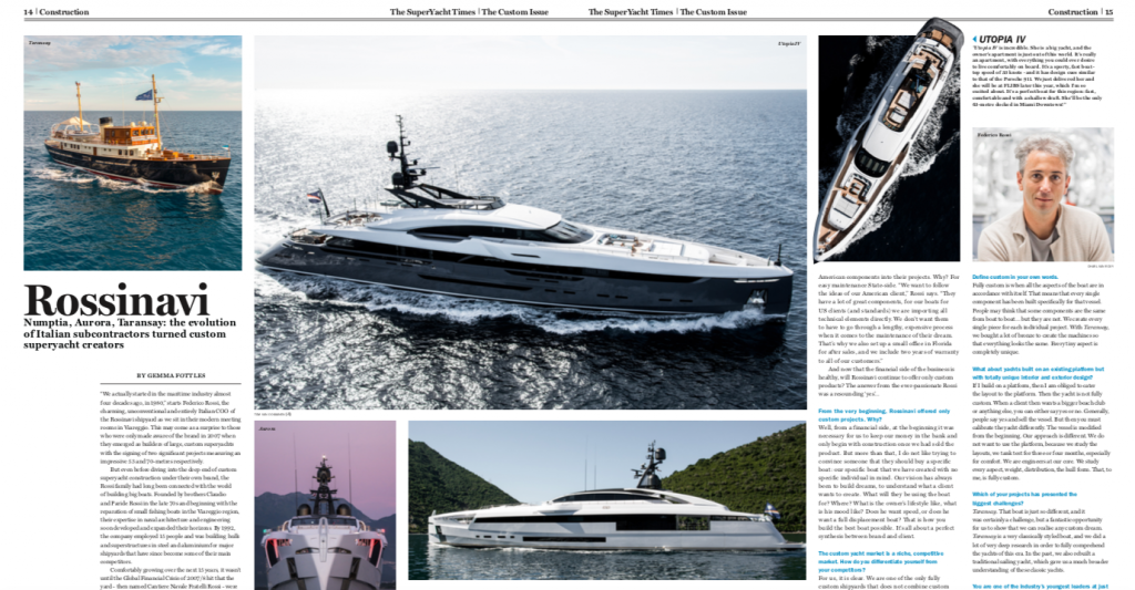 Press: Utopia IV Makes the Cover of Superyacht Magazine, Superyacht Magazine,utopia iv,