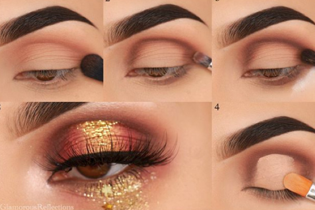 Get the Look with Motives®: Gold Glitter, gold glitter, motives, motives cosmetics, eye makeup, eyes, motives