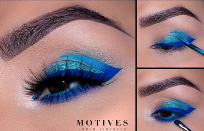 Get the Look with Motives®: Stunning Blue, stunning blue, blue eyes, motives cosmetics